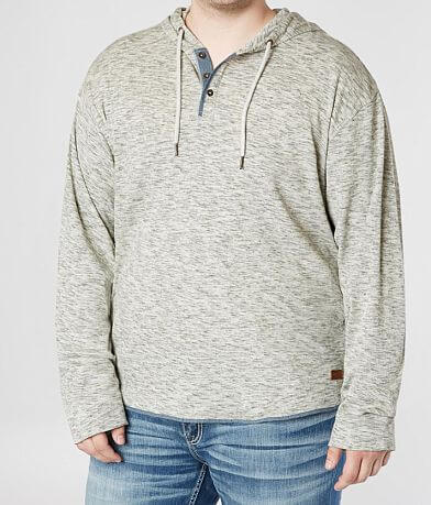 Outpost Makers Heathered Henley Hoodie -Big & Tall