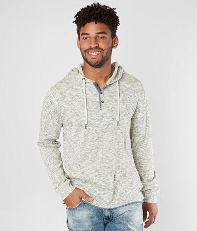 Outpost Makers Heathered Henley Hoodie