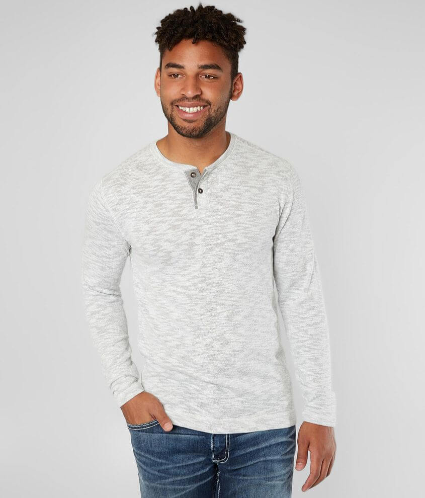Outpost Makers Heathered Henley front view