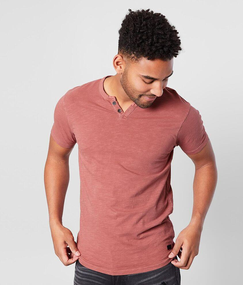 Outpost Makers Washed Knit Henley front view
