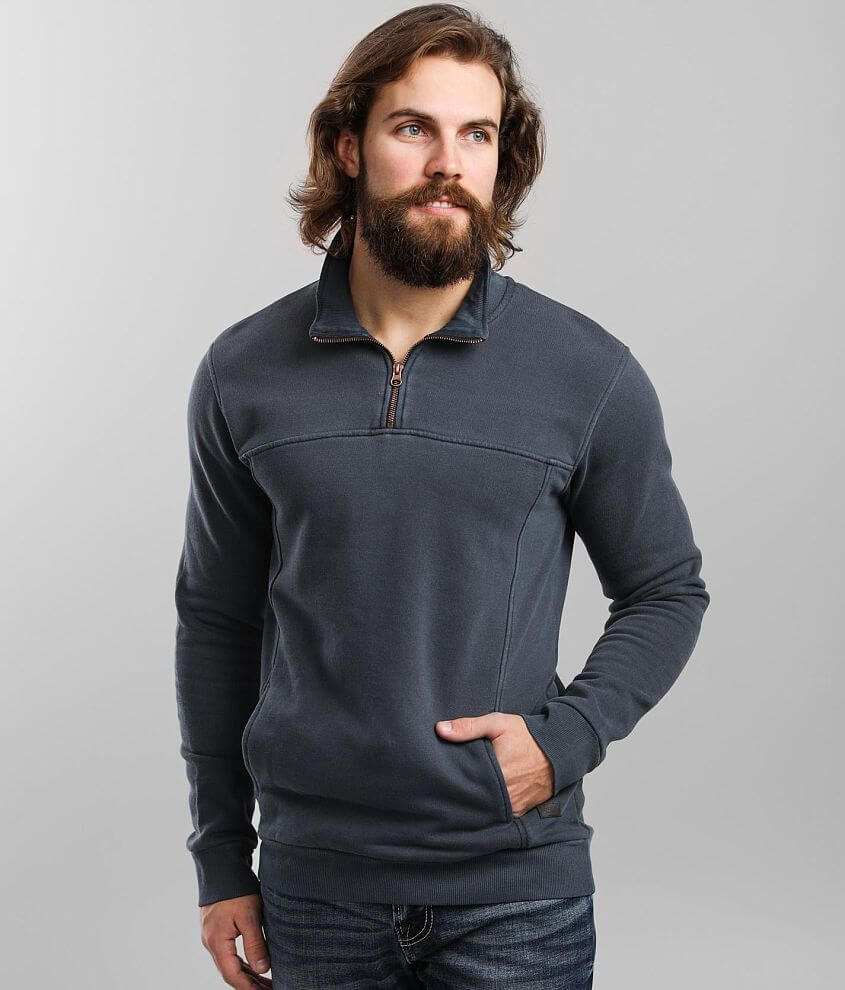 Outpost Makers Washed Quarter Zip Pullover front view