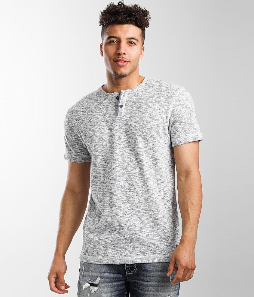 Outpost Makers Marled Henley T-Shirt front view