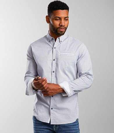 J.B. Holt Polka Dot Athletic Stretch Shirt