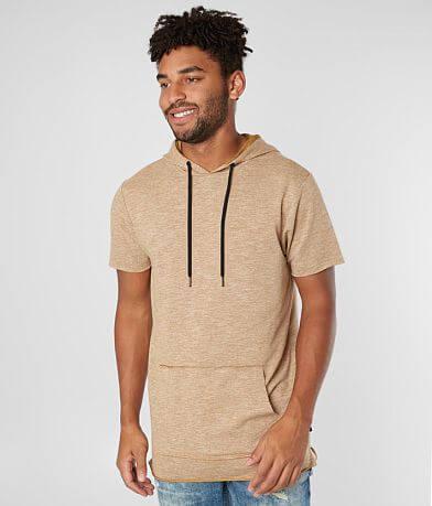Nova Industries Raw Edge Hooded Long Body T-Shirt