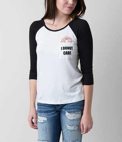 Messy Buns Lazy Days I Donut Care T-Shirt