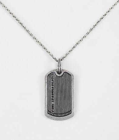 BKE Textured Dog Tag Necklace