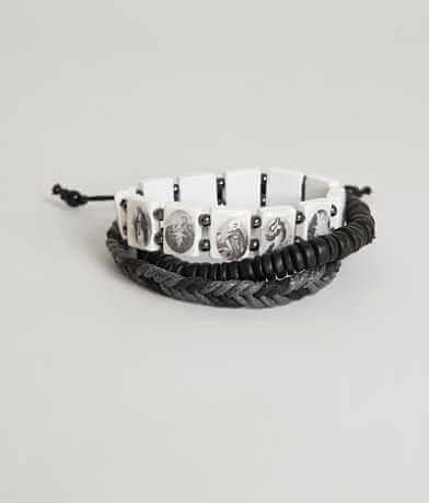 BKE White Saints Bracelet Set