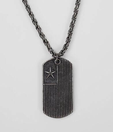 BKE Star Flag Dog Tag Necklace