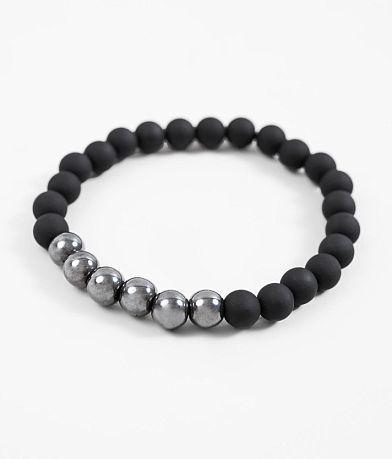 BKE Rubber Hematite Bracelet