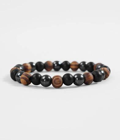 BKE Hematite Wood Bracelet