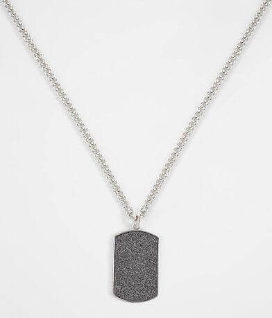 BKE Silver Dog Tag Necklace