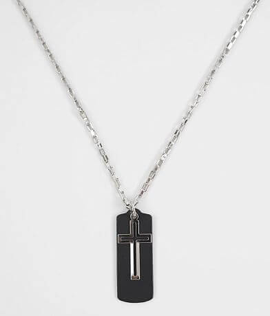 BKE Cut-Out Cross Necklace