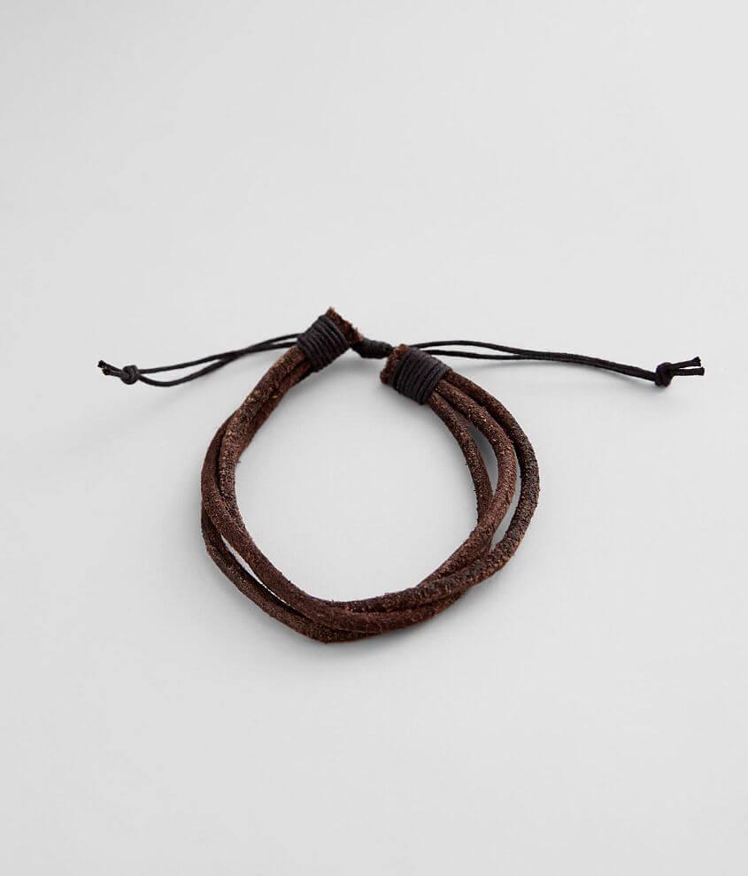 BKE Faux Leather Bracelet front view