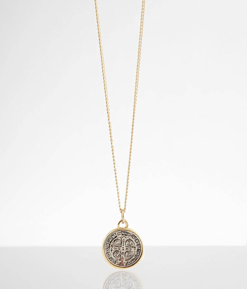 Embossed pendant necklace Length measures 24 1/2\\\