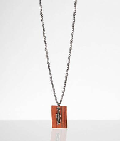 BKE Feather Pendant Necklace