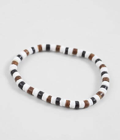 BKE Shell Wood Bracelet