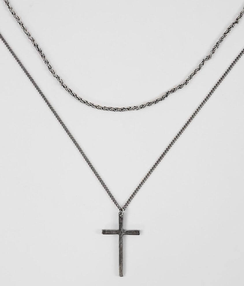 BKE Cross Necklace Set front view