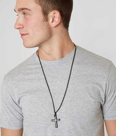 BKE Inset Cross Necklace