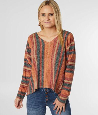 Coco + Jaimeson Striped V-Neck Dolman Top