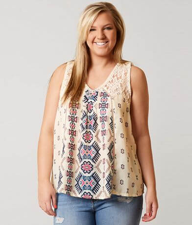 Coco + Jaimeson Lace Tank Top - Plus Size Only