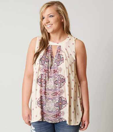 Coco + Jaimeson Gauze Tank Top -Plus Size Only