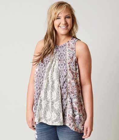 Coco + Jaimeson Floral Tank Top-Plus Size Only