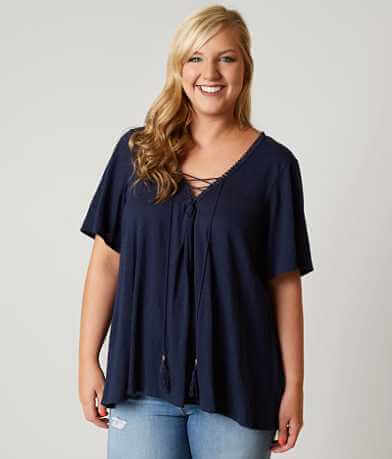 Coco + Jaimeson Lace Up Top - Plus Size Only
