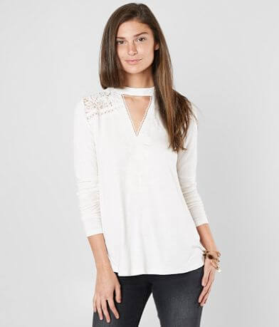 Coco + Jaimeson Pieced Lace Top