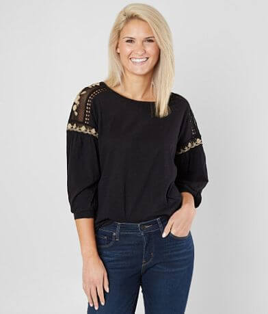 Coco + Jaimeson Floral Embroidered Top