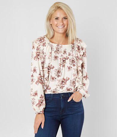 Coco + Jaimeson Floral Ruffle Top