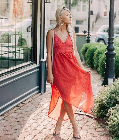 Coco + Jaimeson Embellished V-Neck Maxi Dress