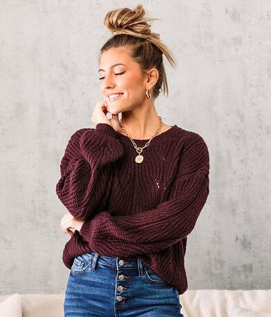 Coco + Jaimeson Pointelle Stitch Sweater