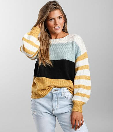 Coco + Jaimeson Color Block Sweater