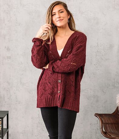 Willow & Root Pointelle Cardigan Sweater