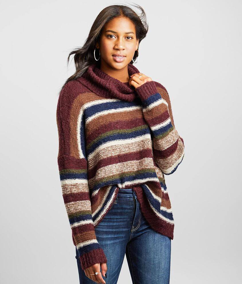BKE Boucle Striped Sweater front view