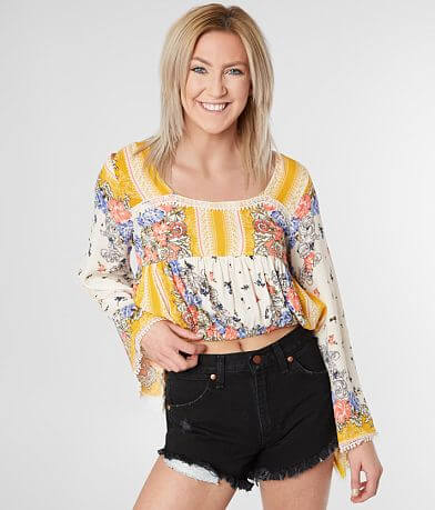 Coco + Jaimeson Square Neck Cropped Top
