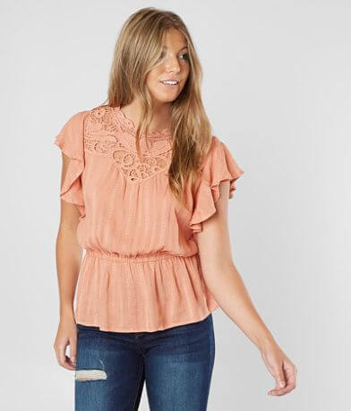 Coco + Jaimeson Embroidered High Neck Top