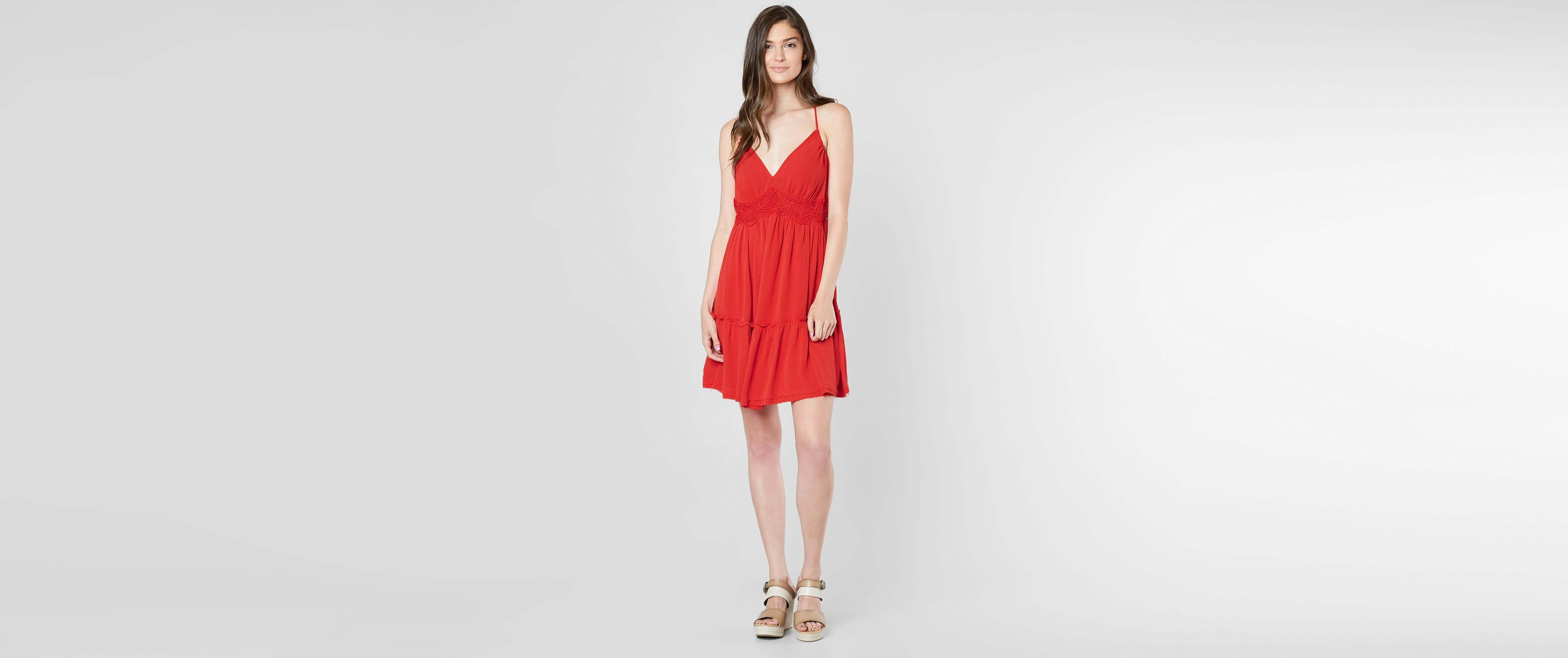 Coco + Jaimeson Woven V-Neck Dress