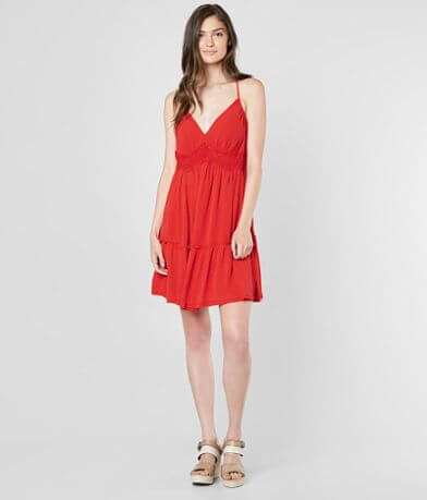 Coco + Jaimeson Woven V-Neck Dress