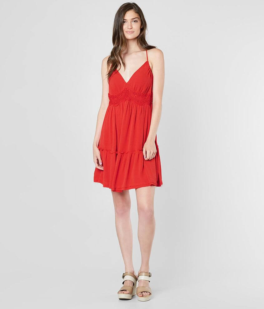 Coco + Jaimeson Woven V-Neck Dress front view