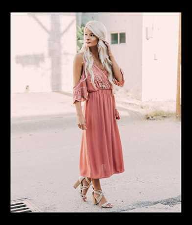 Coco + Jaimeson Cold Shoulder Wrap Dress