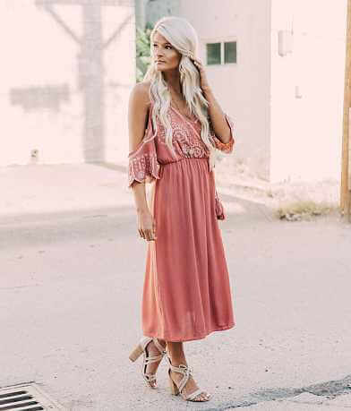 Coco + Jaimeson Cold Shoulder Wrap Dress