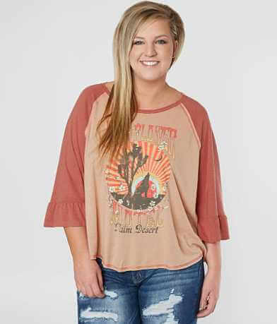 Taylor & Sage Wild Flower Top - Plus Size Only