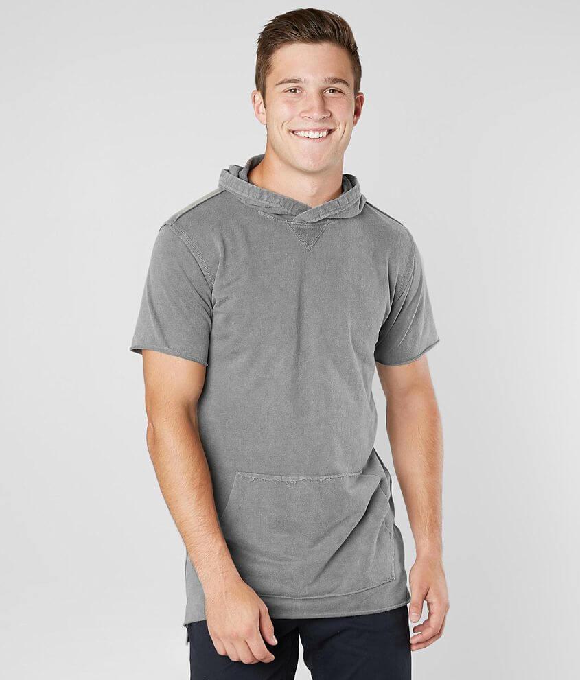 Nova Industries Raw Edge Hooded T-Shirt front view
