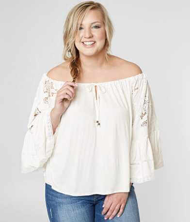 Taylor + Sage Off The Shoulder Top - Plus Size