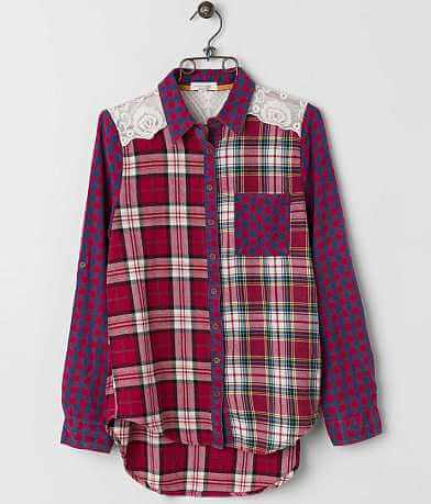 Taylor & Sage Pieced Shirt