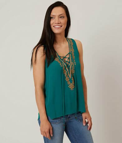 Coco + Jaimeson Embrodiered Tank Top