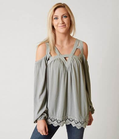 Coco + Jaimeson Cold Shoulder Top
