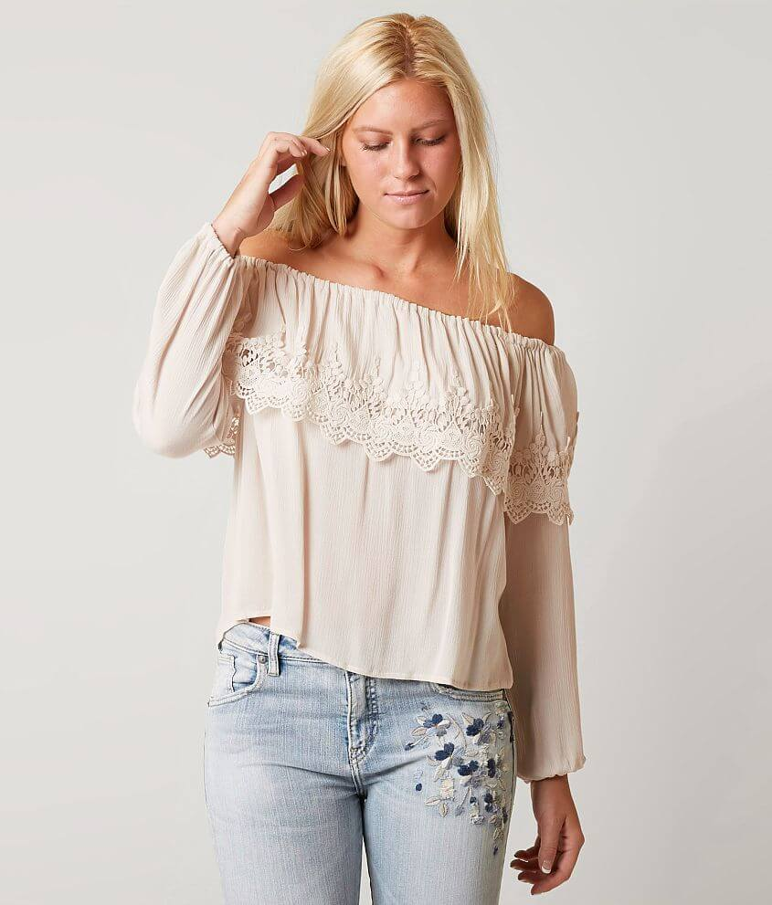 Coco + Jaimeson Off The Shoulder Top front view