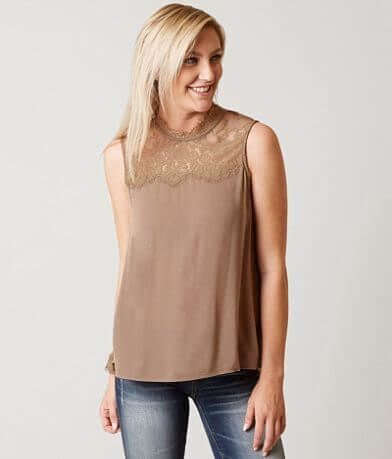 Coco + Jaimeson Eyelash Lace Tank Top